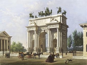 Veduta dell'Arco della Pace co