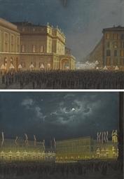 Vedute notturne di Piazza dell