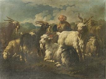Pastore con capre