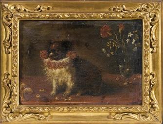 Cagnolino e fiori