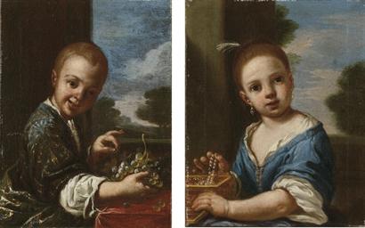 Bambino con uva; e Bambina con