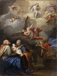 Sacra Famiglia e la Trinità co