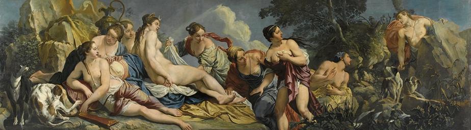 Diana e le ninfe sorprese da A