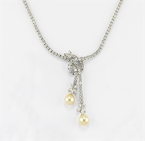 COLLANA IN BRILLANTI E PERLE GOLDEN COLTIVATE, FIRMATA CHANTECLER