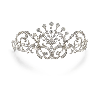ANTICA TIARA IN DIAMANTI :  diamonds jewelry jewellery evening