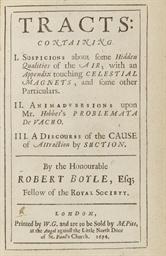 BOYLE, Robert (1627-1691). Tra