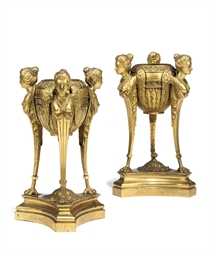 A PAIR OF GEORGE III ORMOLU TR