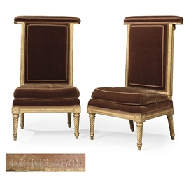 A PAIR OF LOUIS XVI GILTWOOD V