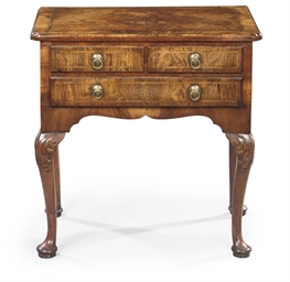 A QUEEN ANNE WALNUT LOWBOY