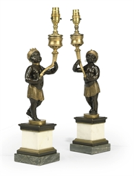 A PAIR OF ENGLISH ORMOLU, PATI