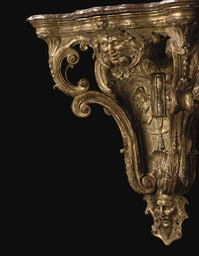 A FRENCH REGENCE GILTWOOD WALL