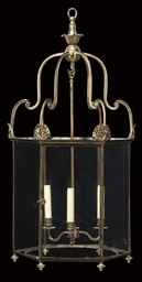 A REGENCY BRASS HALL LANTERN