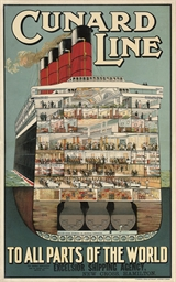 CUNARD LINE, TO ALL PARTS OF T