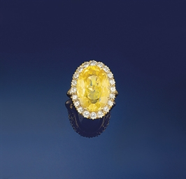 A yellow sapphire and diamond