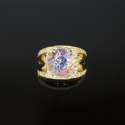 A kunzite, diamond and coloure