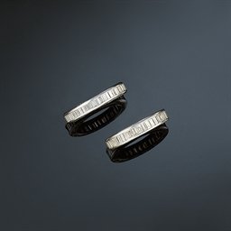 Two diamond eternity rings