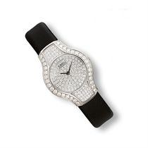 A LADY'S DIAMOND WRISTWATCH, BY EBEL