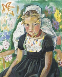 Girl wearing a Walcheren dress