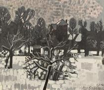 Jardin sous la neige, Dilbeek