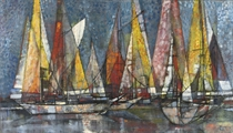 Yachts in a harbour