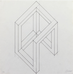 Incomplete open cube drawing -