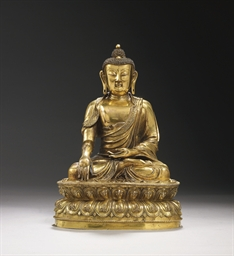 STATUE DE BOUDDHA EN BRONZE DO