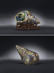 AN EXTREMELY RARE CLOISONNE EN