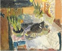 Still Life with Hyacinths, Plaice and Lemon