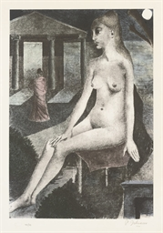 After Paul Delvaux (1897-1994)