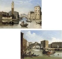 The entrance to the Cannaregio, Venice; and The Rialto, Venice