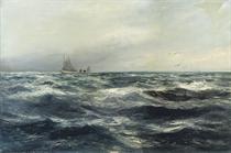 A Cornish sea and working boat