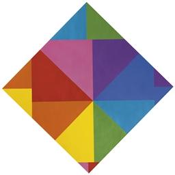'acht farben im horizontal-dia