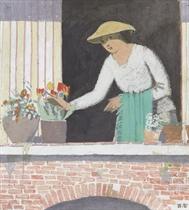 Mädchen am Fenster, 1907