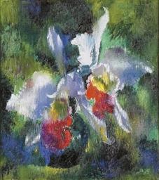 Orchideen auf grünem Grund, 19