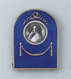 A MODERN RUSSIAN ENAMEL AND DI