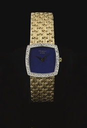 A LADY'S 18K GOLD, LAPIS LAZUL