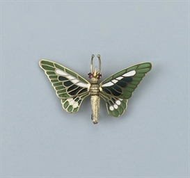 A BUTTERFLY BROOCH, BY CARTIER