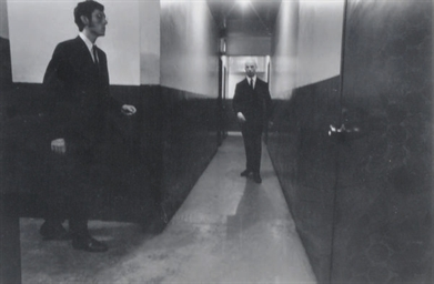Untitled (men in hall), c. 197