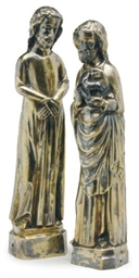 TWO CONTINENTAL GILT-METAL FIG