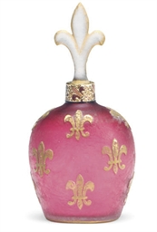 A FRENCH GILT AND ENAMELED FLA