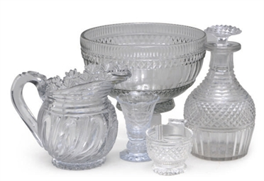 AN ASSEMBLED GROUP OF CUT GLAS
