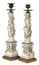 A PAIR OF GILT METAL-MOUNTED M