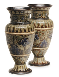 A PAIR OF ENGLISH VASES,