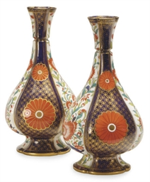 A PAIR OF ENGLISH PORCELAIN IM