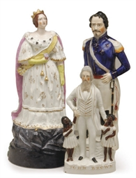 A GROUP OF THREE STAFFORDSHIRE