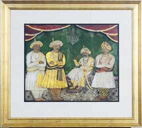PORTRAIT OF A SEATED MAHARAJA