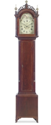 A FEDERAL INLAID MAHOGANY TALL