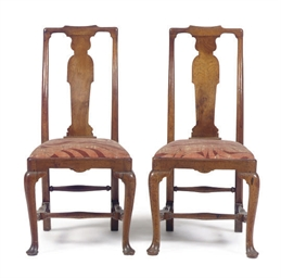 A PAIR OF GEORGE I WALNUT SIDE