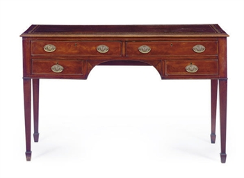 A MAHOGANY WRITING TABLE,