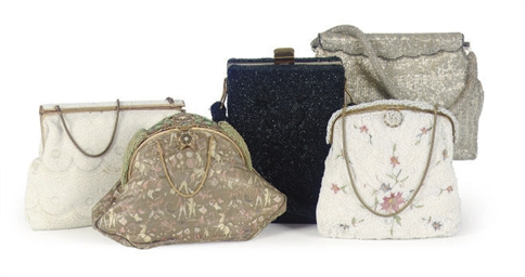 A GROUP OF SEVEN EVENING BAGS,